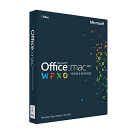 Office 2011 Home and Business pentru MAC, licență electronică